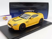 """AUTOart 70252 # Aston Martin V12 Vantage S Coupe Bj. 2015 """" gelbmetallic """" 1:18"""