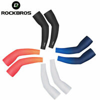 ROCKBROS Cycling Arm Sleeves Sun Protection Anti-UV Ice Silk Seamless Arm Cover