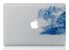 Macbook 13 inch decal sticker mountain and apple art for Apple Laptop
