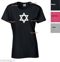 Adult Sizes Womens T-Shirt Star of David Magen David  SIZES S-XL
