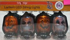 Halloween 8 Mini LED Pumpkin & Skull Lantern with Sound Effects NIB