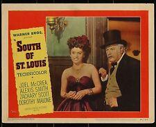 SOUTH OF ST LOUIS Joel McRea  ORIGINAL 1949 WESTERN MOVIE LOBBY CARD POSTER