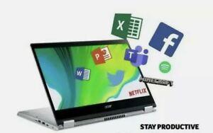 "Acer spin 3 sp314-51 14"" full hd ips touch 8th gen i5-8250u 8gb ddr4 1TB Windows"