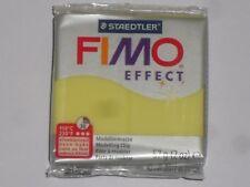 Pain de pâte fimo effect jaune transparent N°104, poids:57g