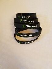 Monster Energy Silicon Bracelets lot of 5 limited edition promotional item x5