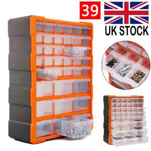 39 Workshop Multi Drawer Cabinet Parts Storage Unit Garage Tool Box Organizer UK