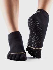 New Toesox Yoga Pilates Grip Ankle Socks Size Medium