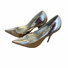 Michael Antonio Womens Silver Pointed Toe Stiletto Heel Pump Shoes Size US 7