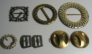 8 vintage belt buckles for crafting sewing