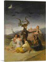 ARTCANVAS Witches' Sabbath 1798 Canvas Art Print by Francisco De Goya