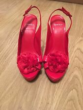 Carvela 6 Red Shoes Patent Leather Sandals Kurt Geiger