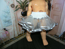 "Gray Nylon Crinoline Net Slip Petticoat 18"" Doll clothes fits Ideal Giggles"