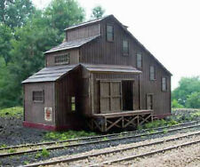 GRAIN ELEVATOR HO Model Railroad Structure Unpainted Laser-Cut Wood Kit LA689