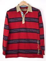 Napapijri Herren Freizeit Polohemd Sweatshirt Pullover Oberteil Größe M ARZ607