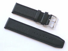 Replacement Quality Lug 22mm Black Genuine Leather Strap Citizen