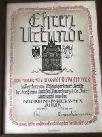 Ehren Urkunde Vom 1.November 1939 2. Weltkrieg