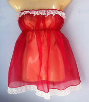 red crystal organza dress adult baby fancy dress sissy french maid fits 36-52
