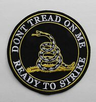 Don't Tread on Me 2nd Amendment Ready to Strike Flag Embroidered Patch 5 inches
