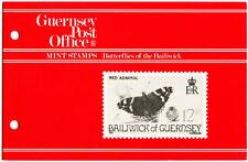 GUERNSEY PRESENTATION PACK MNH 1981 BUTTERFLIES OF THE BAILIWICK