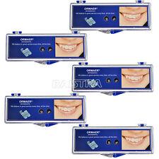 ESP 5 X ORMAE Dental Ortho Braces Ceramic Bracket 5*5 Slot Roth0.022 Hooks3 4 5