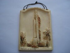 GLASGOW EXHIBITION 1938 TOWER OF EMPIRE BOSSOMS MADE HANG UP PICTURE