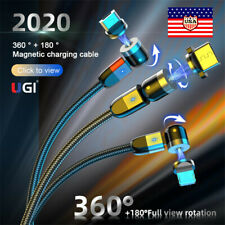 US 2020 New 540 Degree Rotate Magnetic Cable Micro USB Type C IOS Cable 3 Pack