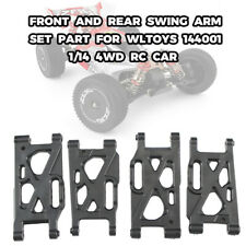 4Pcs For WLtoys 144001 1/14 4WD RC Car Front And Rear Swing Arm Set Part Black