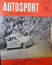 Autosport December 12th 1952 *1.5 Litre Borgward*