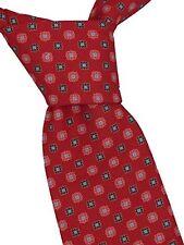 Kiton Italy Men's Pink Geometric 100 Silk Classic Neck Tie 3.5 Inches