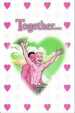 1990 LGBT Gay Joe Phillips Together we can conquer the world Valentine Card
