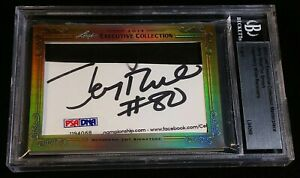 1/1 2X AUTO JERRY RICE/TIM BROWN *BECKETT, BGS ENCASED 3X COA 2 PSA/DNA STICKERS