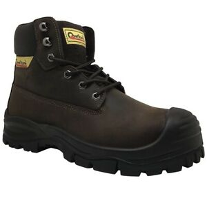 Men's 6 Inch Leather Industrial and Construction Work Boots