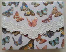 Blank inside 10 Note Card & Envelope Set Embossed butterflies