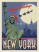 "Happy Holidays New York Vintage Retro Travel Photo Fridge Magnet 2""x3"""