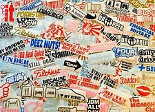 100 Random Sticker Decal Pack Lot Wholesale Drift Boost Funny Euro Turbo Stance