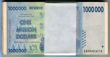 Zimbabwe 1 Million Dollars banknote x 100 2008 P77 VF currency bill