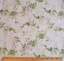Rose Divine Hydrangea Fabric By Yard Romance Toss Floral 100% Cotton Mia Reduced