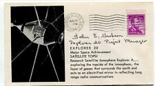 1964 Explorer 20 Major Space Achievment Satellite TOPSI Vandenberg SIGNED ?? SAT