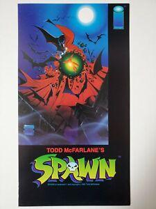 RARE 1992 SPAWN PROMO RACK CARD POSTER IMAGE COMICS TODD MACFARLANE PRINT
