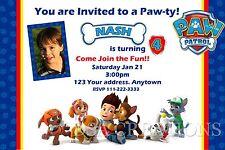 PAW PATROL  Birthday party invitations personalized custom