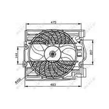 Fits BMW 5 Series E39 540i Genuine NRF Engine Cooling Radiator Fan
