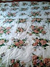 "Burgundy Green 4 Pc Comforter Set  Floral  Queen Size (86""x86"") 2 Shams Bedskirt"