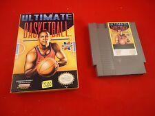 Ultimate Basketball  (Nintendo NES 1990)  w/ Box game WORKS!