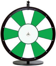 """24"""" Green and White Promotional Dry Erase Spinning Prize Wheel"""