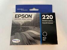 Epson 220 Black Ink Cartridge  Exp 4/2019 Brand New Sealed