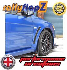 rallyflapZ MITSUBISHI EVO X (07-16) Mudflaps & Fixings Black Logo W,R&O 4mm PVC