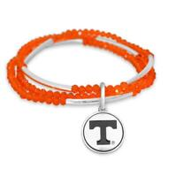 Tennessee Volunteers Chloe Multi-line Orange Bead Stretch Bracelet Jewelry UT