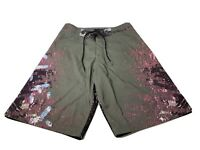 Oakley Logo Gray & Purple Splatter Surfer Beach Board Swim Shorts Mens Size 30
