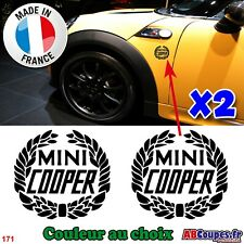 2 Stickers pour ailes Mini Cooper - Autocollants Cooper S - 171