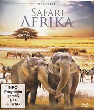 Safari Afrika - Bluray - 3 Tier Dokumentationen - Löwe Elefant Schakal Wildlife